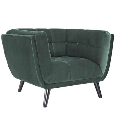 Worthey Armchair Upholstery: Green