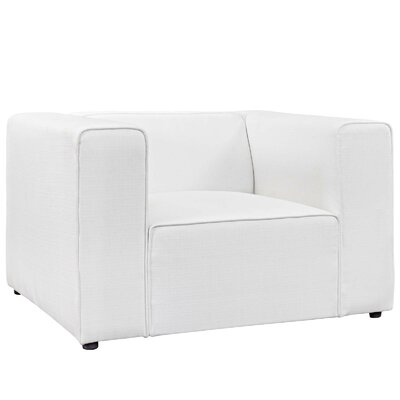 Worthley Upholstered Armchair Upholstery: White