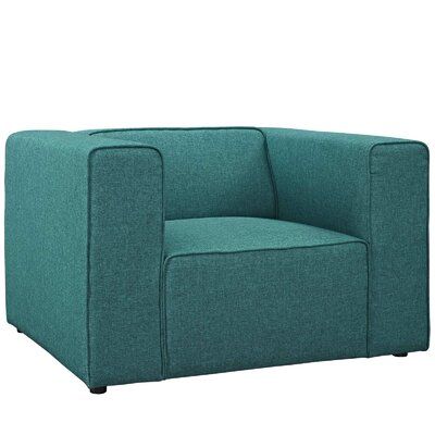 Worthley Upholstered Armchair Upholstery: Teal