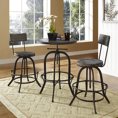 Gather 3 Piece Dining Set Color: Brown