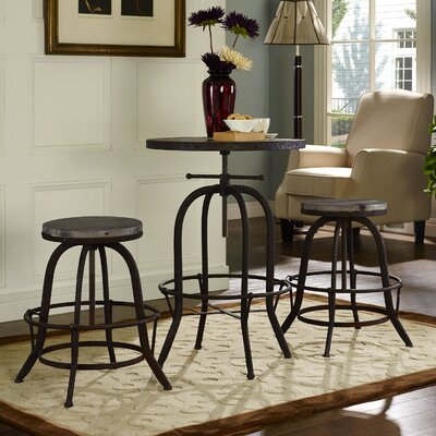 Sylvan 3 Piece Pub Table Set Color: Brown