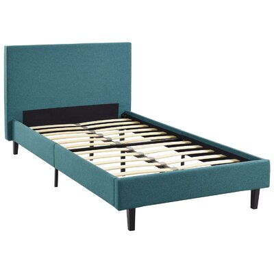 Tafolla Bed Frame Color: Teal, Size: Queen