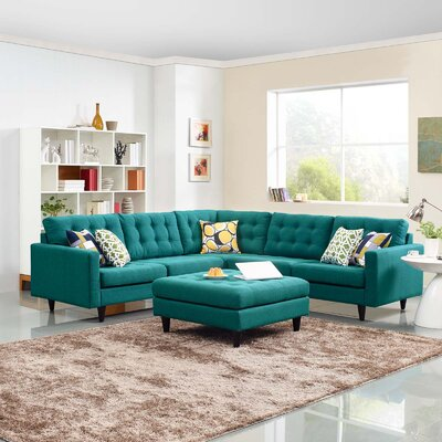 Warren Sectional Upholstery: Teal