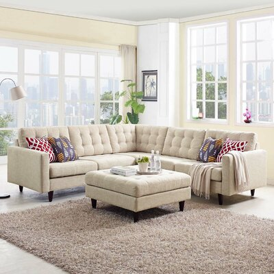 Warren Sectional Upholstery: Beige