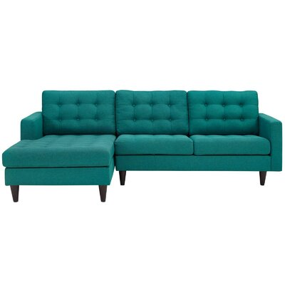 Warren Sectional Upholstery: Teal, Orientation: Right Hand Facing, Size: 34 H x 60.5 W x 87.5 D