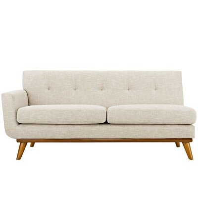 Saginaw Loveseat Upholstery: Beige, Orientation: Left Hand Facing, Size: 33.5 H x 73 W x 35 D