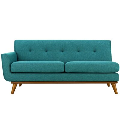 Johnston Loveseat Upholstery: Teal, Orientation: Left Hand Facing, Size: 33.5 H x 73 W x 35 D