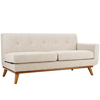Johnston Loveseat Upholstery: Beige, Orientation: Right Hand Facing, Size: 33.5 H x 73 W x 35 D