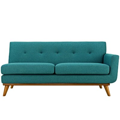 Saginaw Loveseat Upholstery: Teal, Orientation: Right Hand Facing, Size: 33.5 H x 73 W x 35 D