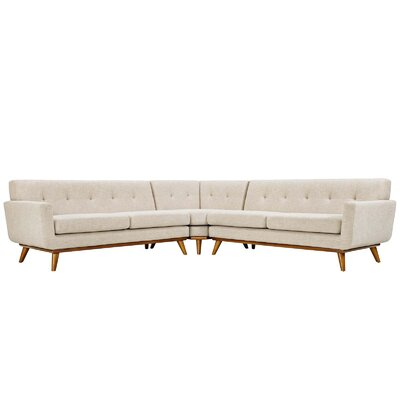 Saginaw Sectional Upholstery: Beige