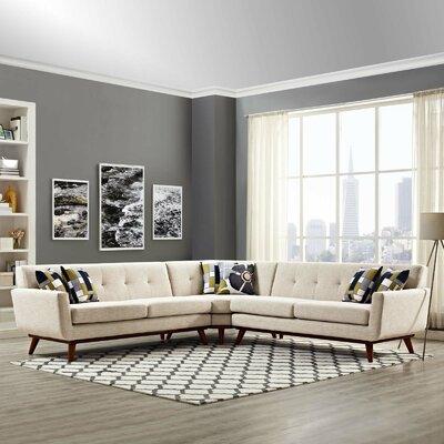 Johnston Sectional Upholstery: Beige