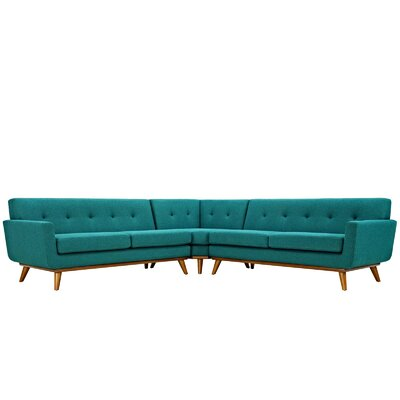 Johnston Sectional Upholstery: Teal