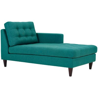 Warren Chaise Lounge Upholstery: Teal, Orientation: Left Hand Facing