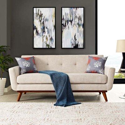 Johnston Tufted Upholstered Sofa Upholstery: Beige