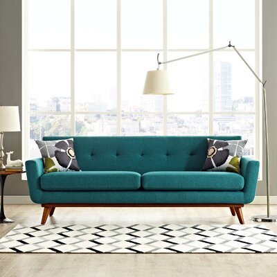 Johnston Upholstered Sofa Upholstery: Teal