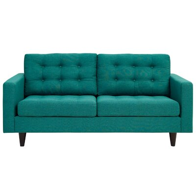 Warren Loveseat Upholstery: Teal