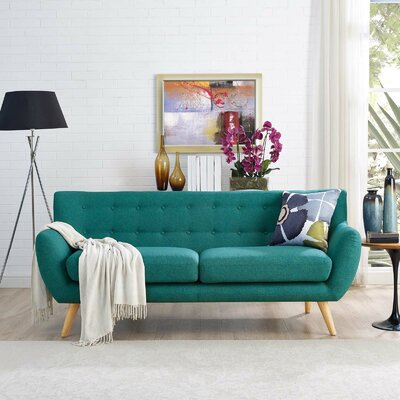 Meggie Sofa Upholstery: Teal