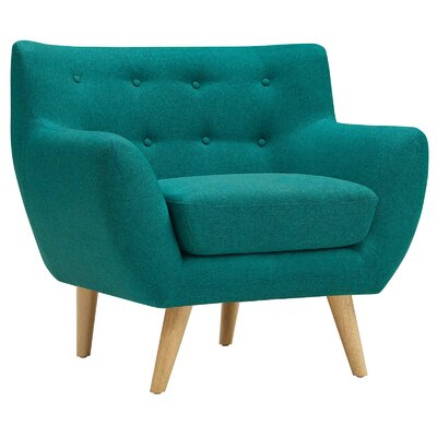 Maisie Armchair Upholstery: Teal