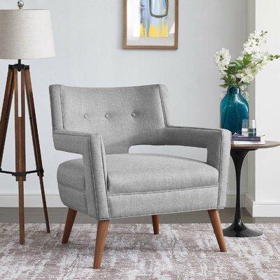 Sheer Armchair Upholstery: Light Gray