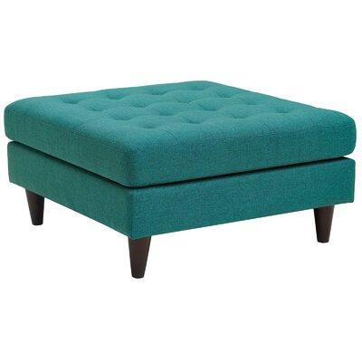 Warren Ottoman Upholstery: Teal