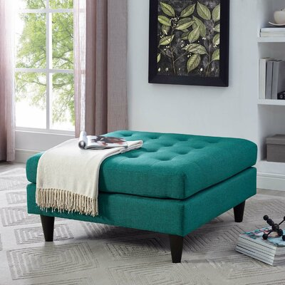 Warren Cocktail Ottoman Upholstery: Teal
