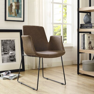 Aloft Dining Arm Chair Upholstery: Brown
