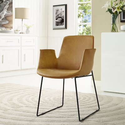 Aloft Dining Arm Chair Upholstery: Tan