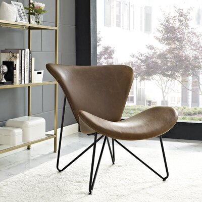 Glide Lounge Chair Upholstery: Brown