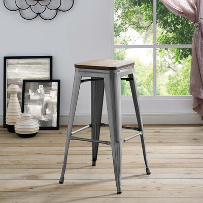 Ashlyn 30 Bar Stool Color: Gunmetal