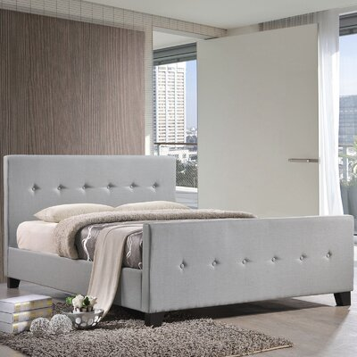 Full/Double Upholstered Platform Bed Color: Gray