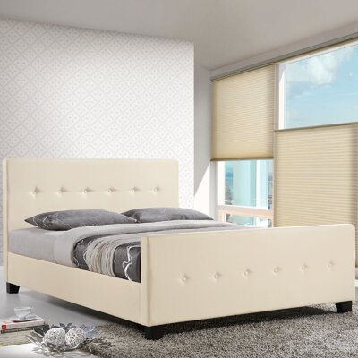 Full/Double Upholstered Platform Bed Color: Ivory