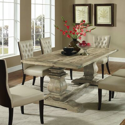 Column Wood Dining Table Color: Brown