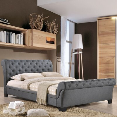 Upholstered Sleigh Bed Color: Gray