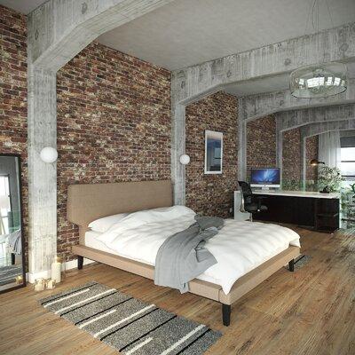 Queen Upholstered Platform Bed Color: Latte