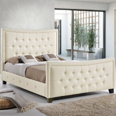 Queen Upholstered Platform Bed Color: Ivory