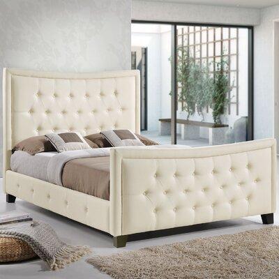 Queen Upholstered Platform Bed Color: Ivory