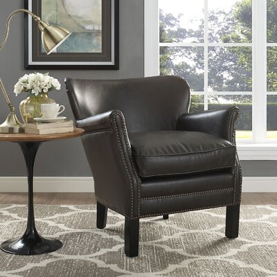 key Wing back Chair Upholstery: Gray