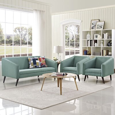 Slide 3 Piece Living Room Set Upholstery: Laguna
