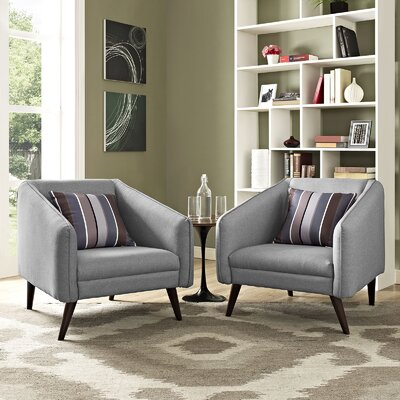 Slide Armchair Upholstery: Light Gray