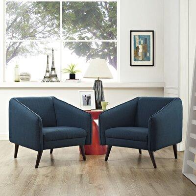 Slide Armchair Upholstery: Azure