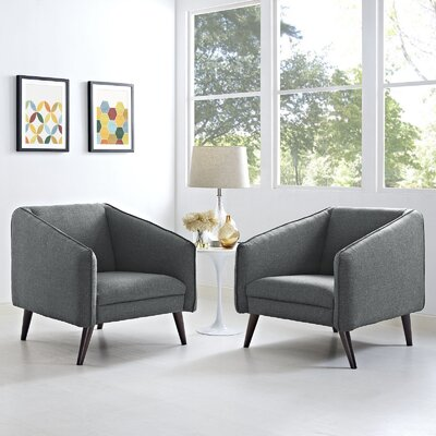 Slide Armchair Upholstery: Gray