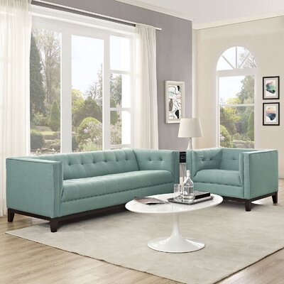 Serve 2 Piece Living Room Set Color: Laguna