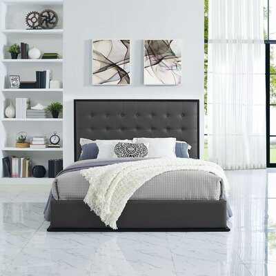 Madeline Bed Frame Color: Gray