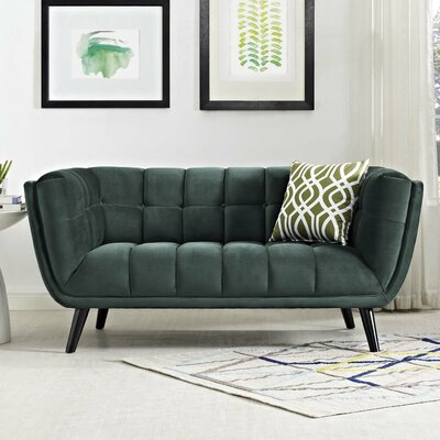 Paugh Loveseat Upholstery: Green