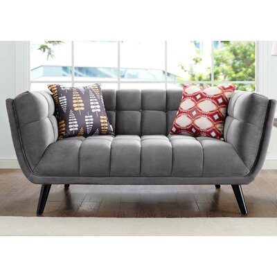 Paugh Loveseat Upholstery: Gray