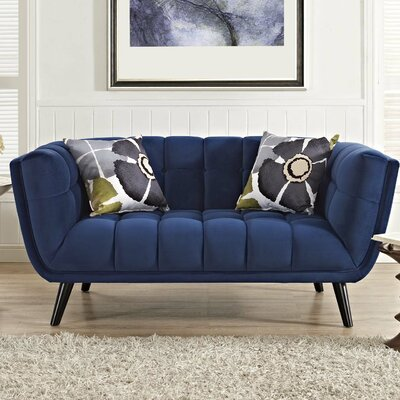 Paugh Loveseat Upholstery: Navy