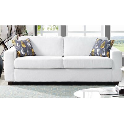 Pauley Sofa Bed Loveseat Upholstery: White