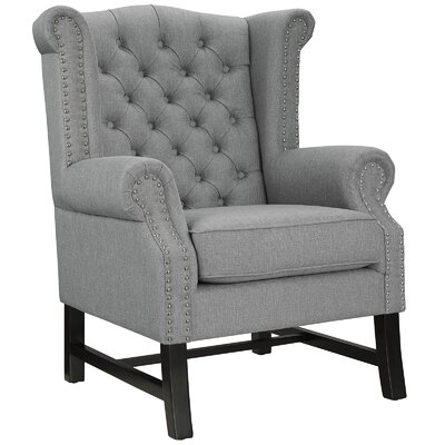 Steer Wing back Chair Upholstery: Light Gray