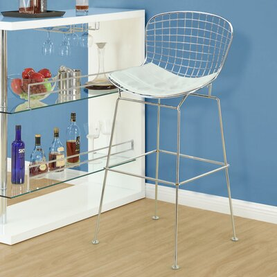 CAD Bar Stool Upholstery: White
