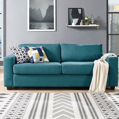 Pauley Sofa Bed Loveseat Upholstery: Teal